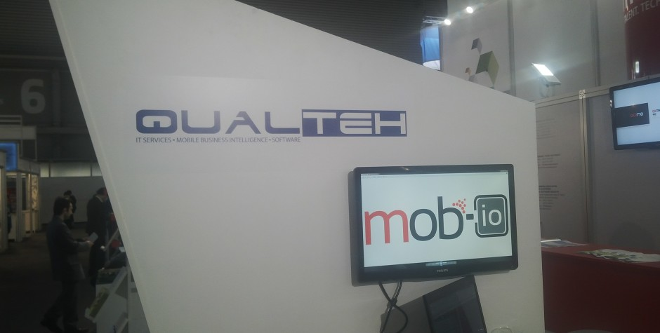 The Beta version of MOB-IO, in live demos at the Romanian exhibition stand, in Barcelona